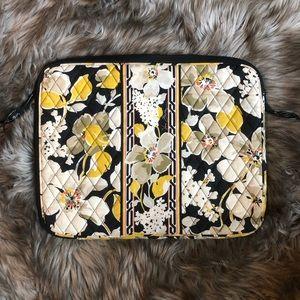 Vera Bradley Dogwood Yellow Floral Laptop Case